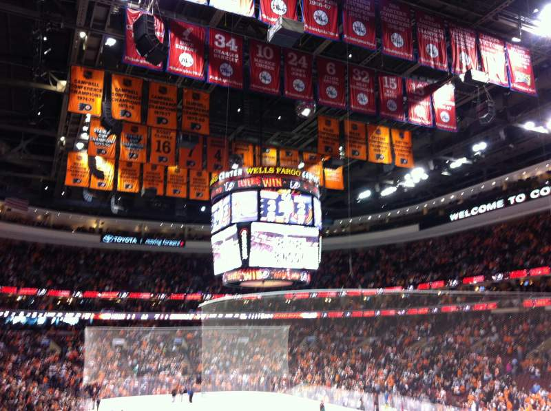 Seating view for Wells Fargo Center Section 105 Row 12 Seat 10