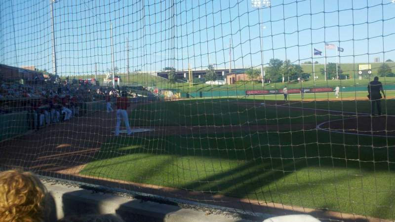 Seating view for Haymarket Park Section 100 Row 2 Seat 2