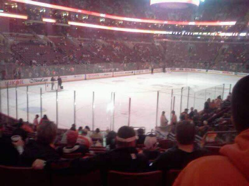 Seating view for Wells Fargo Center Section 121 Row 17 Seat 5