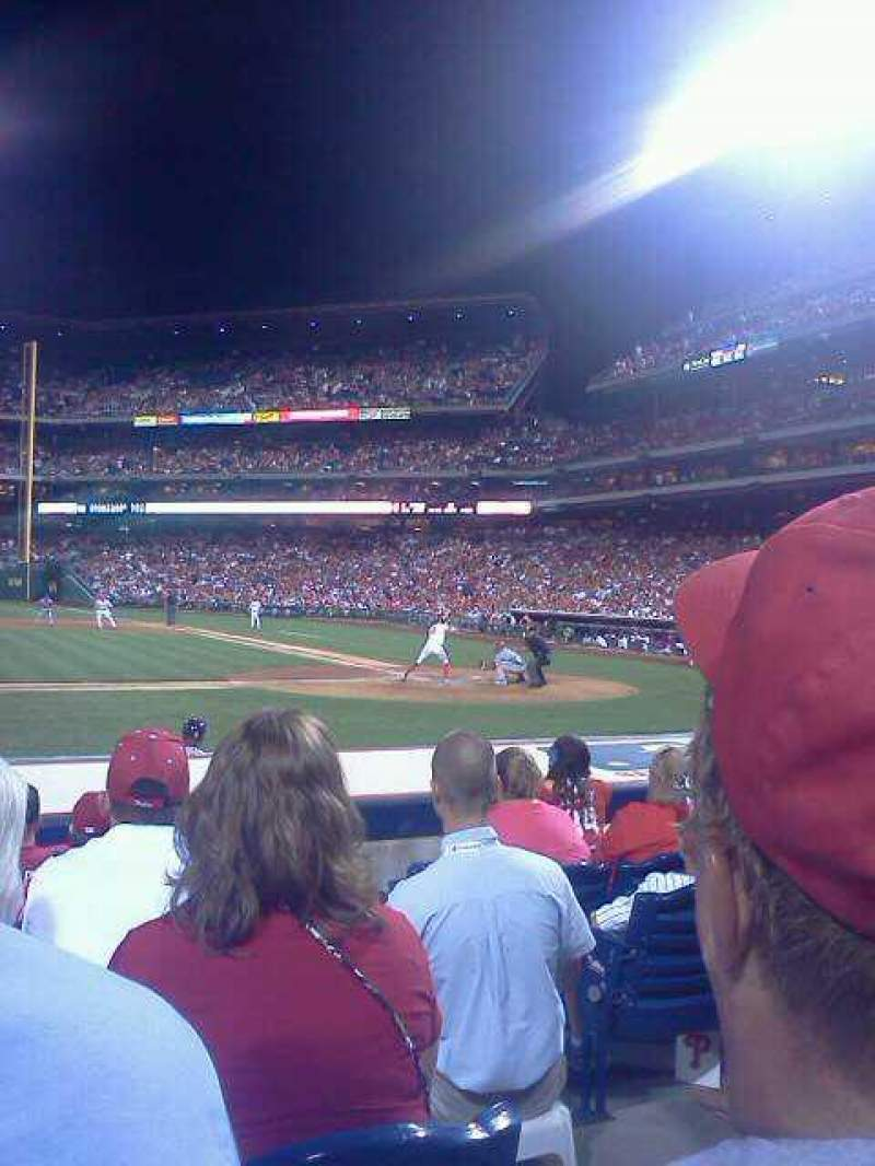 Seating view for Citizens Bank Park Section 129 Row 5 Seat 1