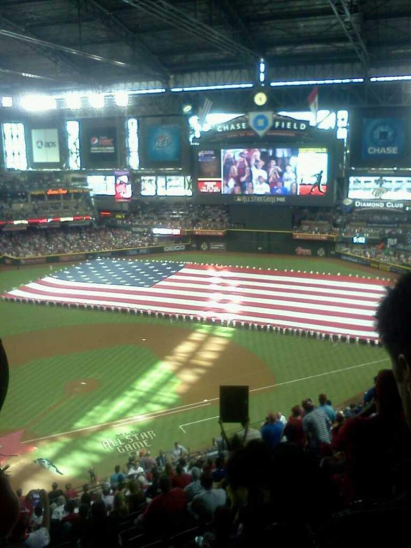 Seating view for Chase Field Section 312 Row 21 Seat 2
