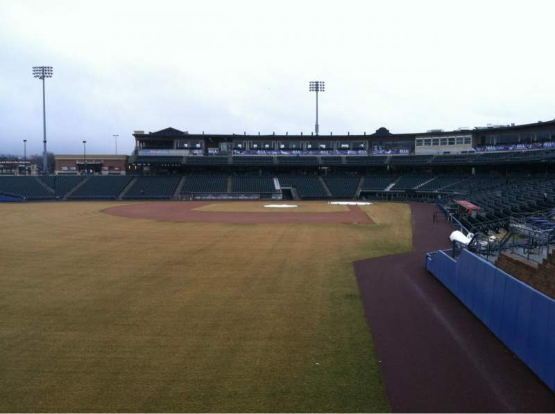 Seating view for Coca-Cola Park Section Tiki Terrace Row 1