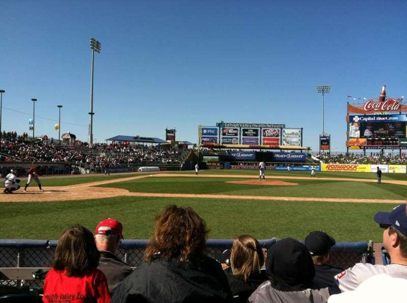 Seating view for Coca-Cola park Section 108 Row F Seat 11