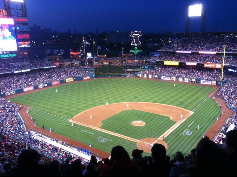 Seating view for Citizens Bank Park Section 422 Row 15 Seat 7