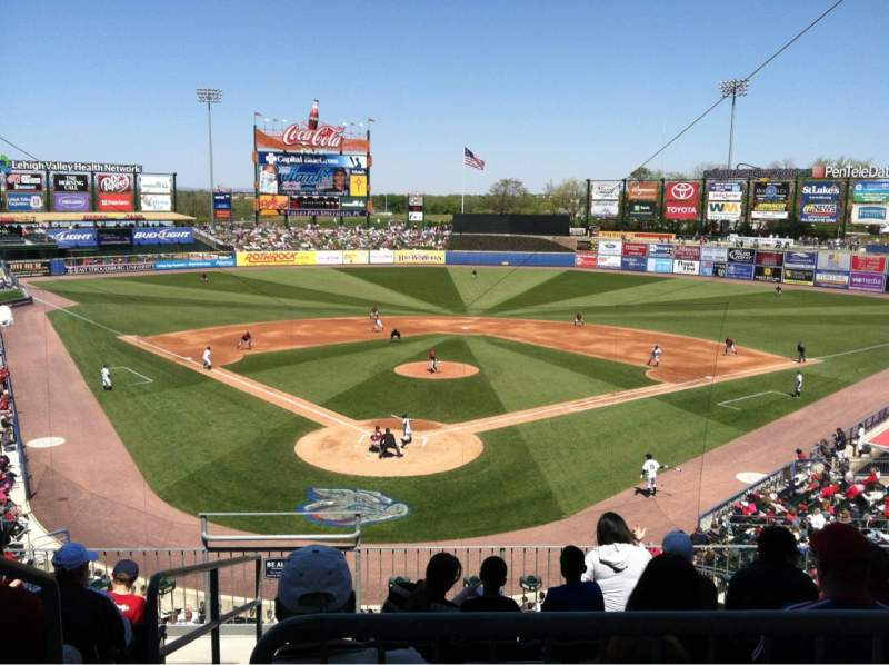 Seating view for Coca-Cola Park Section 208 Row Asile