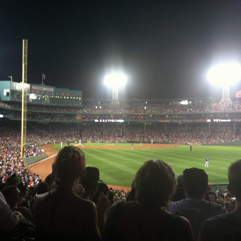 Seating view for Fenway Park Section Right Field Box 3 Row UU Seat 1