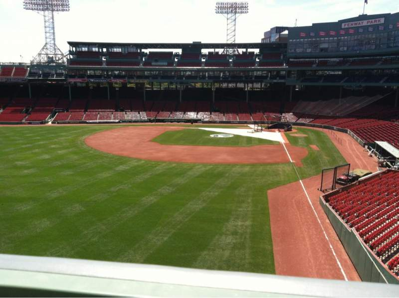 Seating view for Fenway Park Section Green Monster 2 Row 1