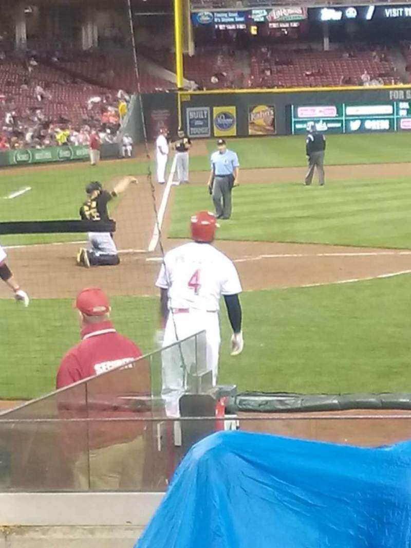 Seating view for Great American Ball Park Section 127 Row L Seat 11
