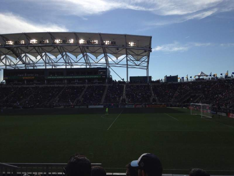 Seating view for Talen Energy Stadium Section 123 Row H Seat 13