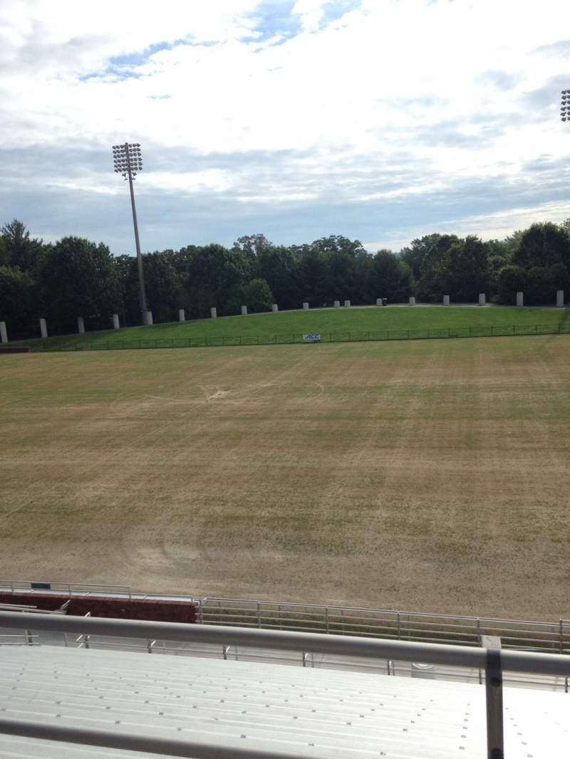 Seating view for Klockner Stadium Section 2 Row Y Seat 11