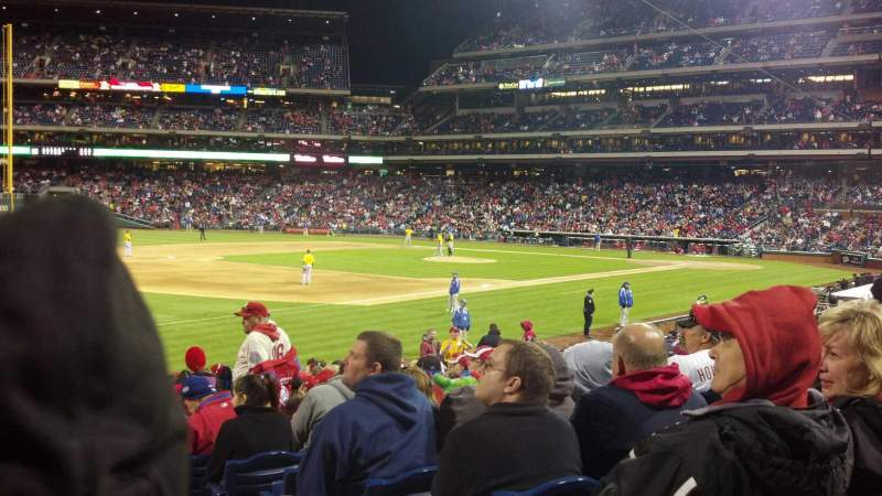 Seating view for Citizens Bank Park Section 136 Row 24 Seat 1