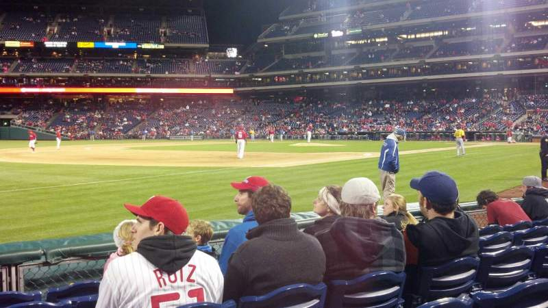 Seating view for Citizens Bank Park Section 137 Row 3