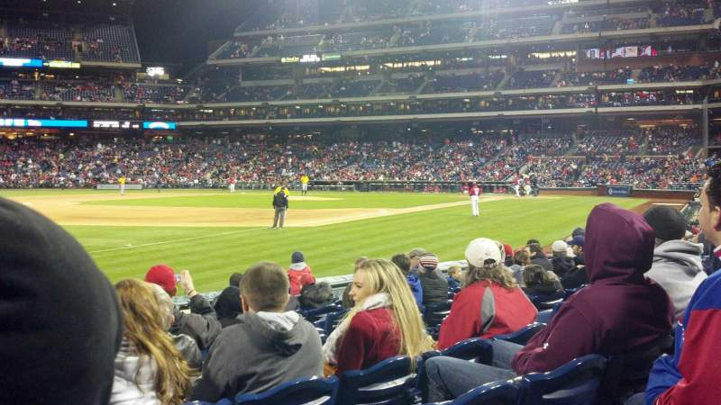 Seating view for Citizens Bank Park Section 136 Row 10