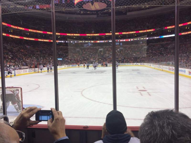 Seating view for Wells Fargo Center Section 108 Row 4 Seat 2