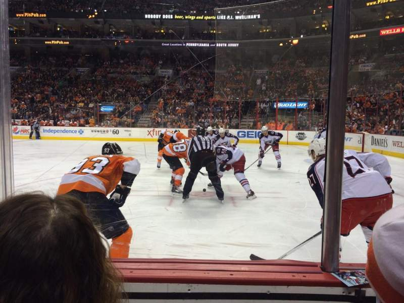 Seating view for Wells Fargo Center Section 115 Row 2 Seat 4