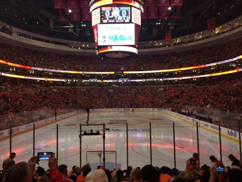 Seating view for Wells Fargo Center Section 119 Row 12 Seat 12
