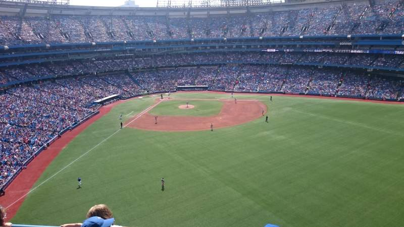 Seating view for Rogers Centre Section 505L Row 4 Seat 109