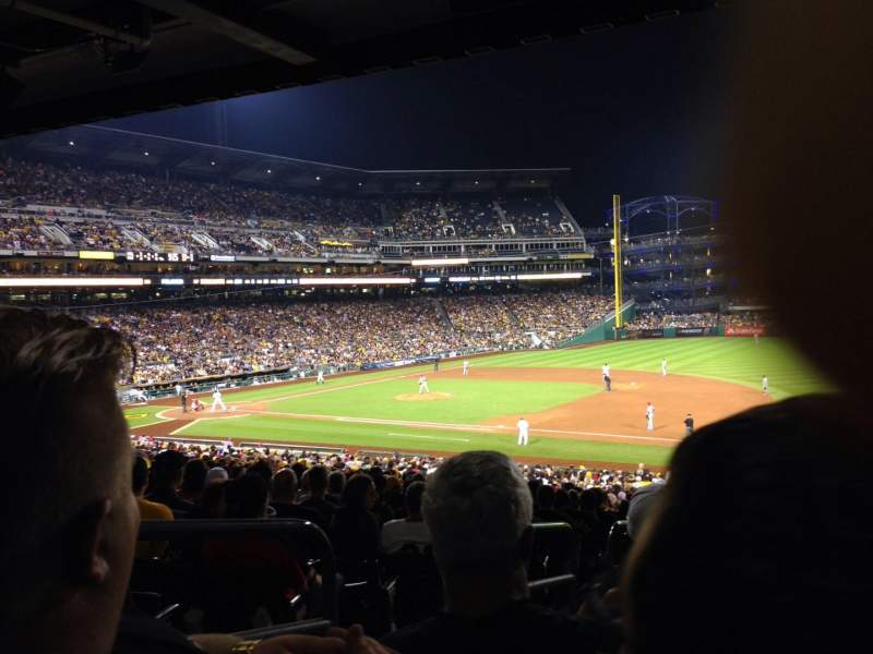 Seating view for PNC Park Section 107 Row Gg Seat 24