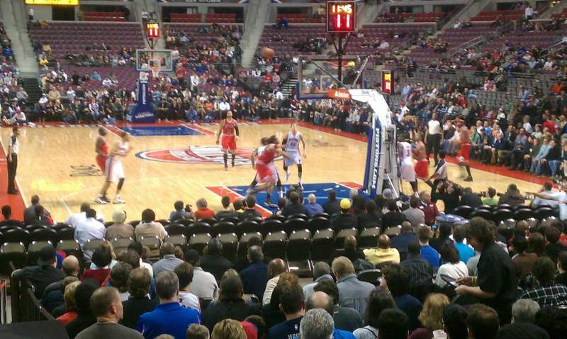 Seating view for The Palace of Auburn Hills Section 108 Row D Seat 7
