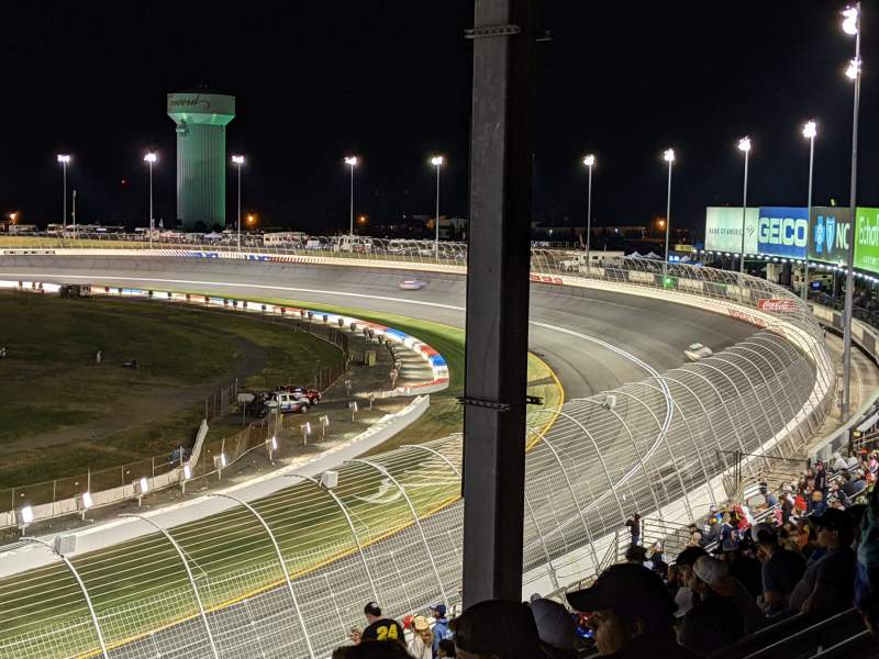 Seating view for Charlotte Motor Speedway Section GNS CC Row 26 Seat 1