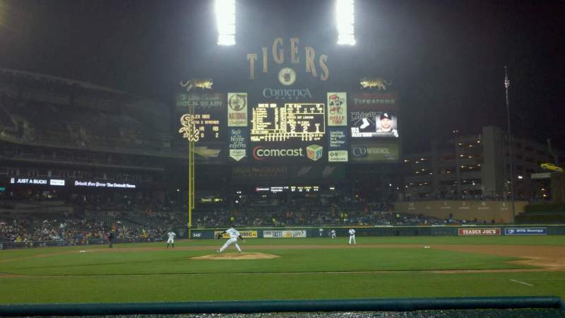 Seating view for Comerica Park Section 122 Row 1 Seat 3