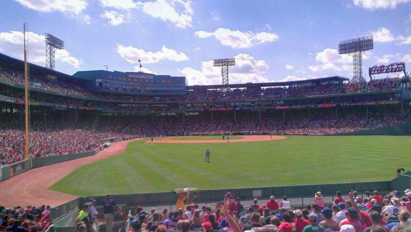 Seating view for Fenway Park Section Bleacher 43