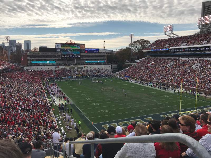 Seating view for Bobby Dodd Stadium Section 219 Row 15 Seat 12