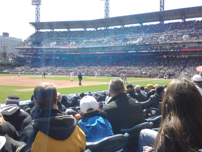 Seating view for PNC Park Section 27 Row K Seat 7