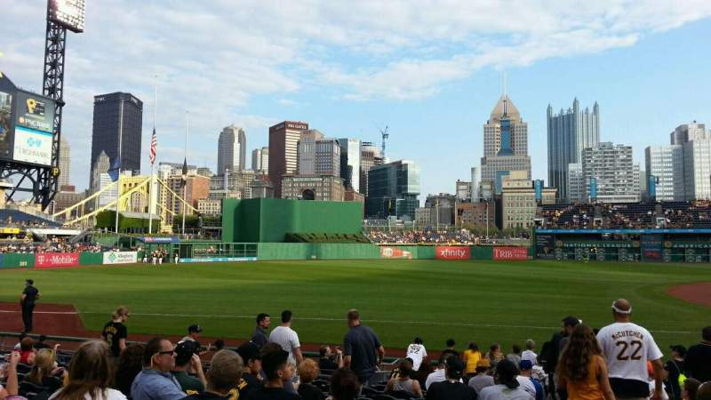 Seating view for PNC Park Section 127 Row A Seat 3
