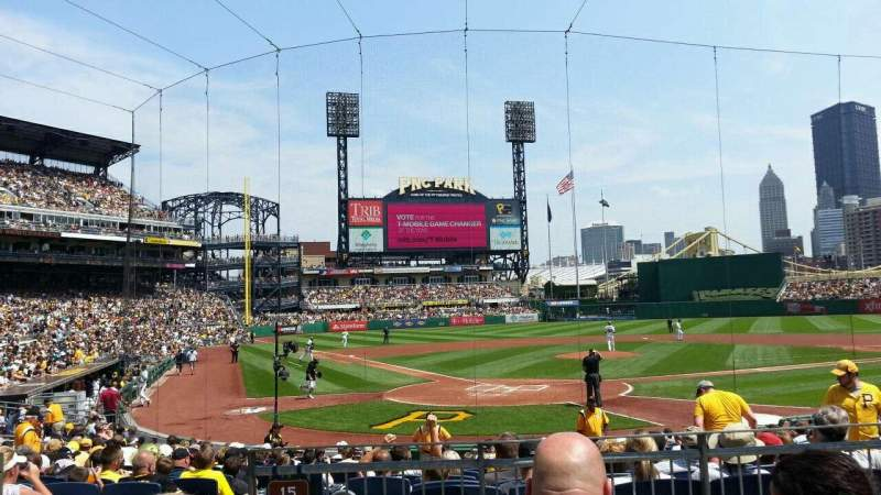 Seating view for PNC Park Section 115 Row C Seat 5