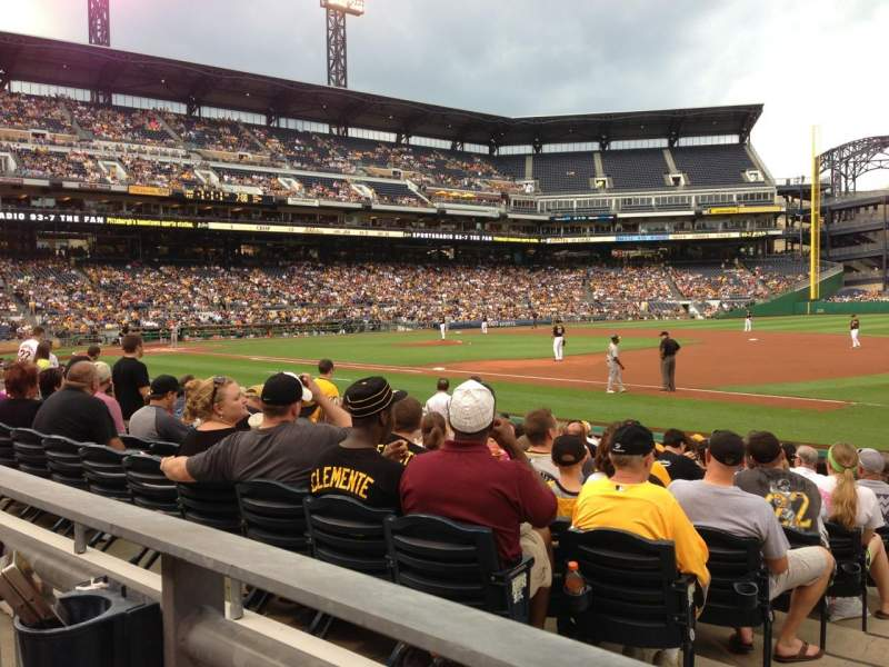 Seating view for PNC Park Section 107 Row A Seat 7