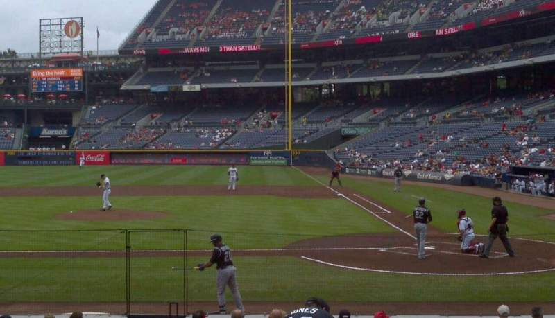 Seating view for Turner Field Section 108r Row 12 Seat 5