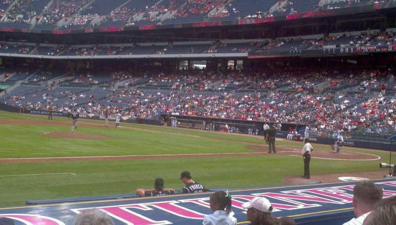 Seating view for Turner Field Section 114 Row 5 Seat 5