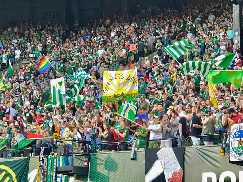 Seating view for Providence Park Section Field Row 1 Seat 5
