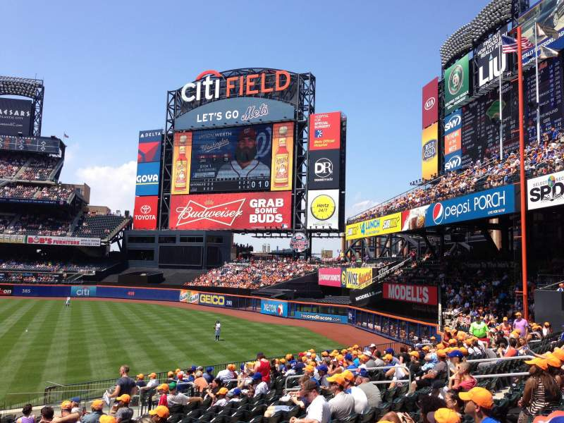 Seating view for Citi Field Section 108 Row 24 Seat 1