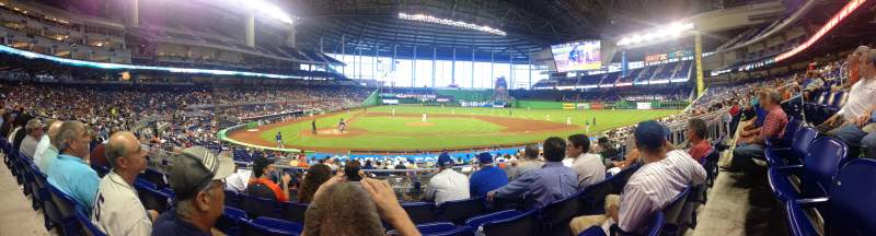 Seating view for Marlins Park Section 10 Row 4 Seat 9
