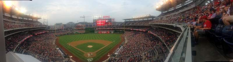 Seating view for Nationals Park Section 314 Row A Seat 18