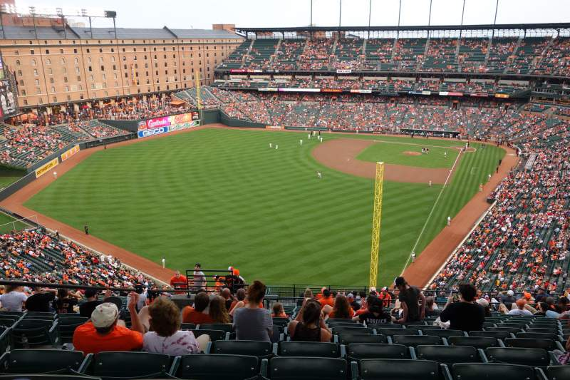 Seating view for Oriole Park at Camden Yards Section 378 Row 24 Seat 19