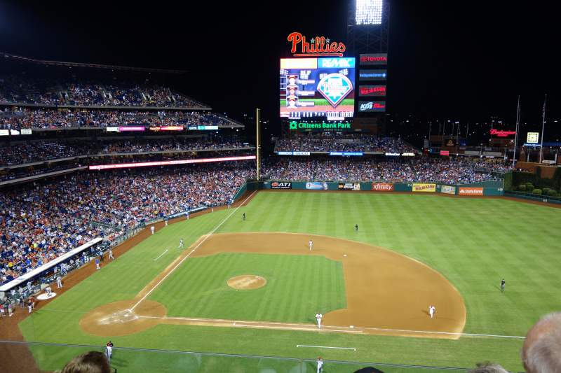 Seating view for Citizens Bank Park Section 315 Row 4 Seat 11