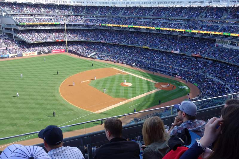 Seating view for Yankee Stadium Section 428 Row 3 Seat 8