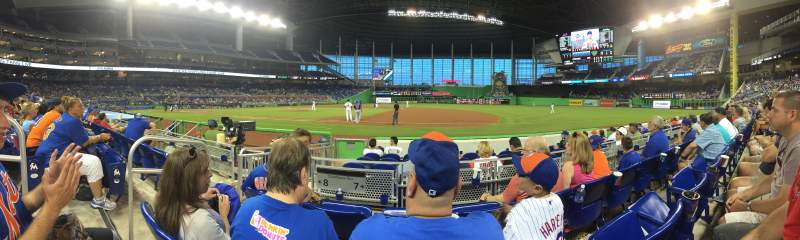 Seating view for Marlins Park Section 7 Row C Seat 20