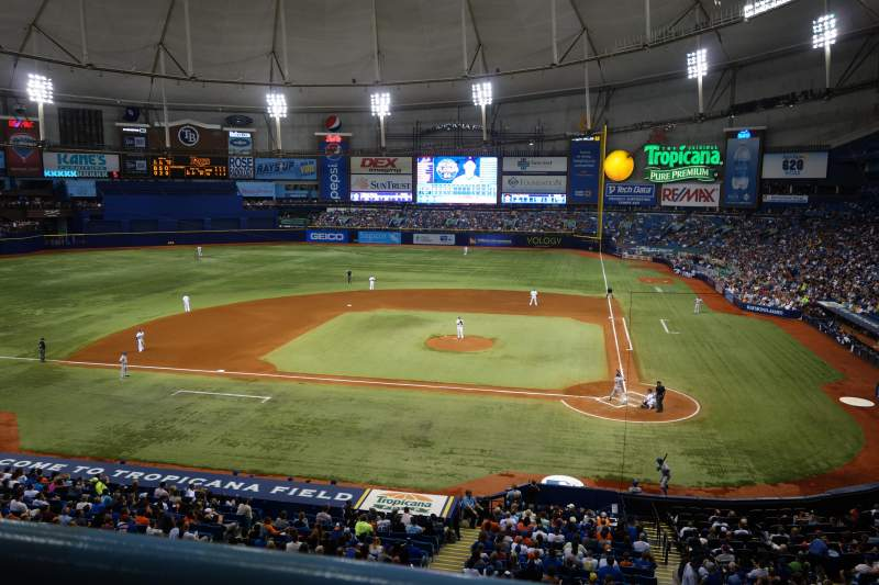 Seating view for Tropicana Field Section 207 Row A Seat 10