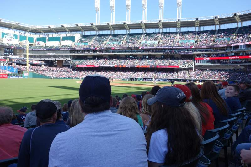 Seating view for Progressive Field Section 175 Row L Seat 9