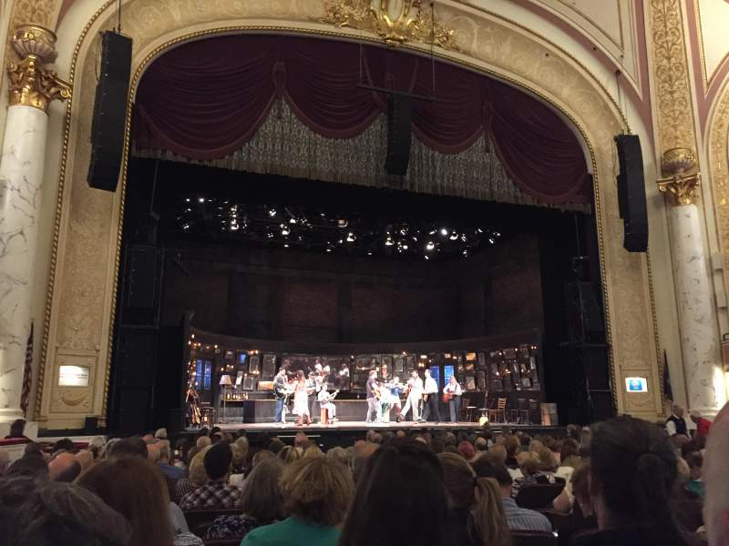 Seating view for Proctor's Theatre Section Orch Ctr Lft Row G Seat 9