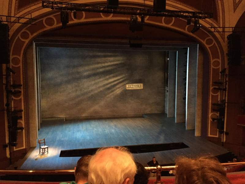 Seating view for Broadway Theatre - 53rd Street Section Front Mezzanine LC Row C Seat 112