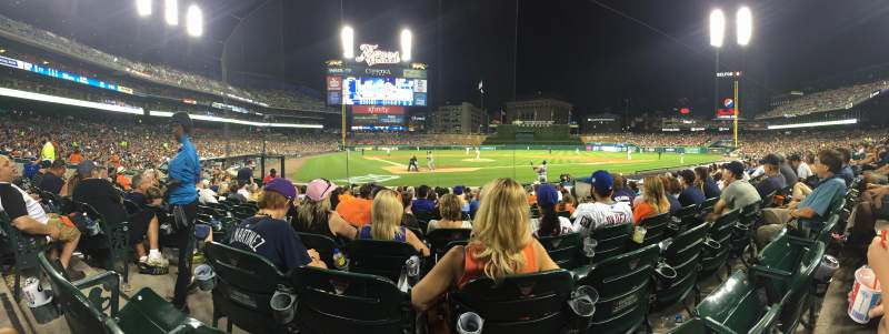 Seating view for Comerica Park Section 125 Row 14 Seat 9
