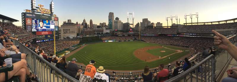 Seating view for Comerica Park Section 338 Row 1 Seat 7