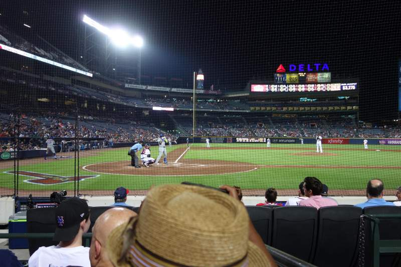 Seating view for Turner Field Section 105R Row 4 Seat 5