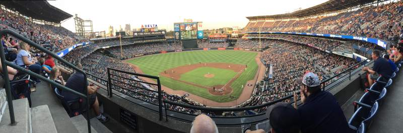 Seating view for Turner Field Section 404R Row 2 Seat 2