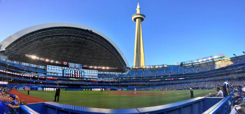 Seating view for Rogers Centre Section 128L Row 1 Seat 110
